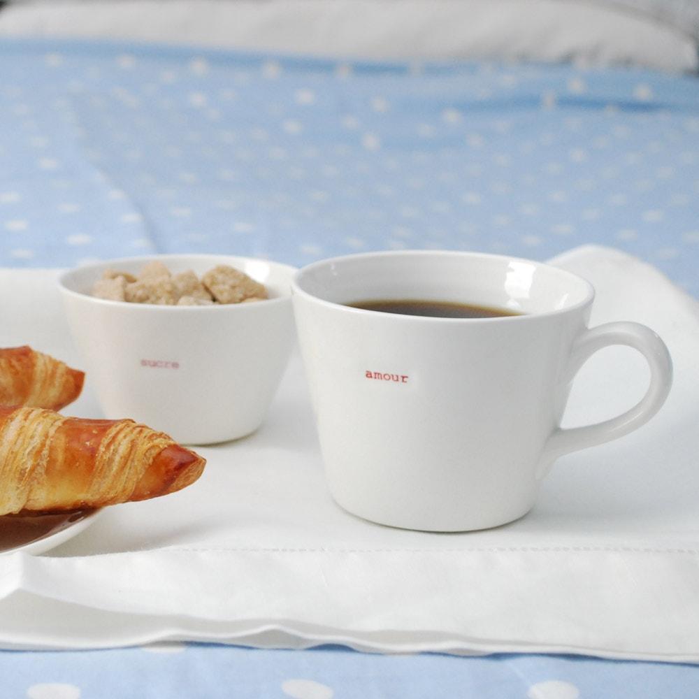 mug amour en porcelaine. Black Bedroom Furniture Sets. Home Design Ideas