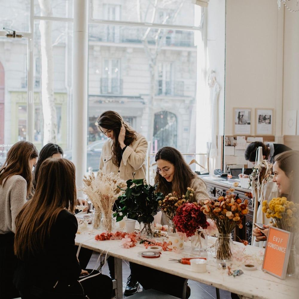 Atelier Diy Couronne De Fleurs Naturelles Pour Votre Groupe