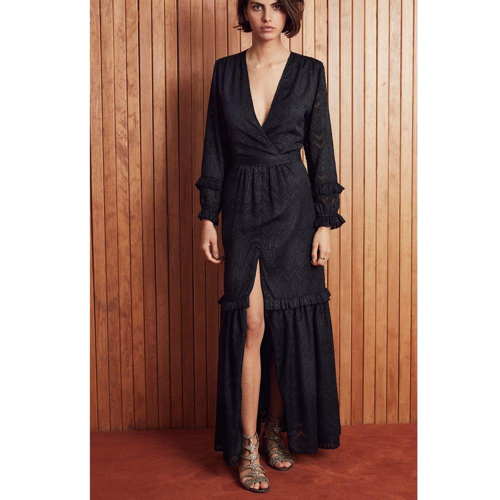 lowest price official images sale Amenapih Robe longue noire Soliste