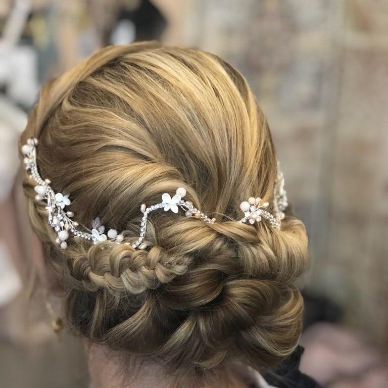 styles de variété de 2019 meilleur choix En liquidation Accessoire cheveux - tiare romantique avec touches de rose
