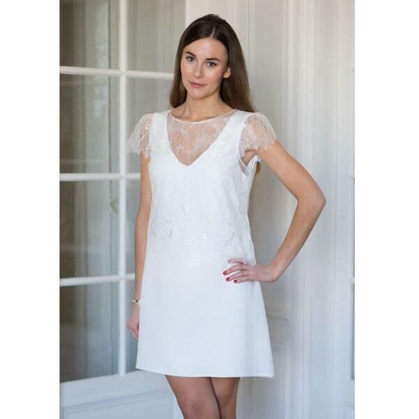 plus récent 3b633 1e18d Atelier Camille - Robe courte blanche Léopold