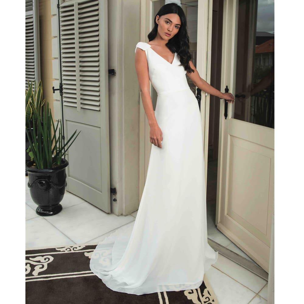 Robe de mariée longue et simple Olivia collection